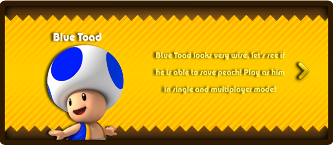 Super Mario & the Ludu Tree - Character Blue Toad