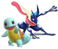 Greninja and Squirtle (SSBGF)