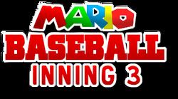 Mario Baseball Inning 3 Logo