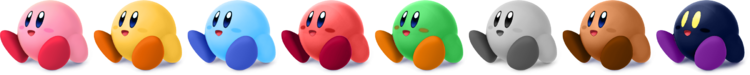 SSBRiot Kirby Color Palettes