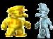 Gold wario and silver waluigi