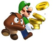 Luigi collect coins with his partner MPR