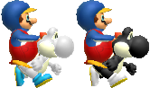File:Black and White Yoshi Models.png