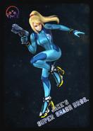 Zero Suit Samus - JSSB amiibo card
