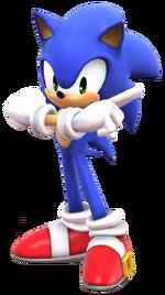 Sonic Adventure pose(Super Smash Bros. Wii U)