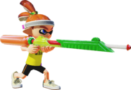 Inkling using a Splat Charger - Splatoon