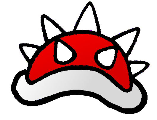 File:2D art Spiny Shell.png