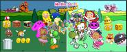 Hello yoshi 3D world poster