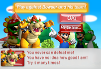 Mario Team vs Bowser Team at the Flower Cup
