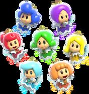 Fairy Group Artwork - Super Mario 3D World