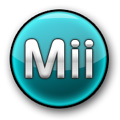 Mii logo blue h