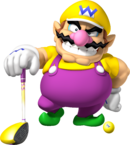 Wario Artwork - Mario Golf World Tour