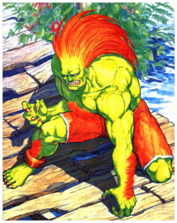 StreetFighterII BlankaCharacterPoster