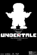 Undertale movie poster sans