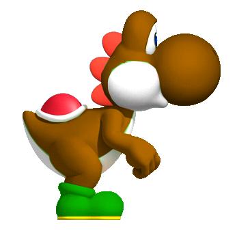 File:Brown Yoshi Yoshi!.png