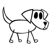 Dog stickfigure