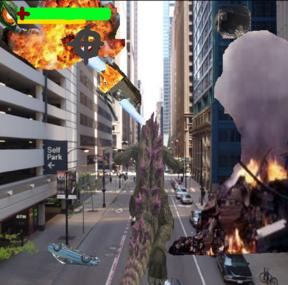 Godzilla Rampage Chicago
