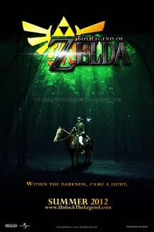 Legend of zelda movie poster by twistedwhiterabbit-d3icd9c