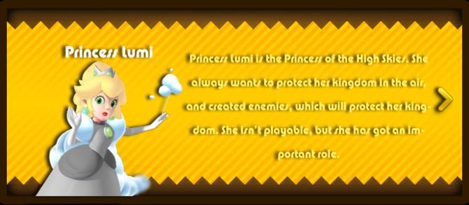 Super Mario & the Ludu Tree - Character Princess Lumi