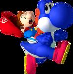 Baby Mario on Yoshi NSMBDIY