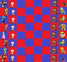 Amiibo Chess Mario Bros Board