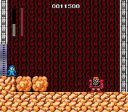Mega Man NES Rock vs Gutsman boss battle