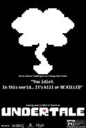 Undertale Movie Poster Flowey