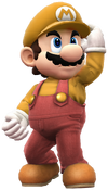 Mario the plumber yellow