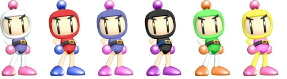 SSBRiot Bomberman Color Palettes