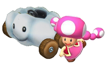 Toadette Kart Artwork