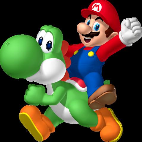 File:Mario riding Yoshi.png