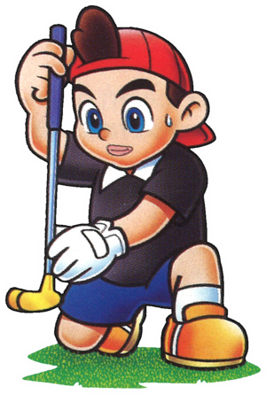 MarioGolfBadge Kid