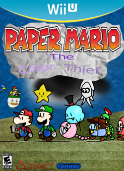 Paper Mario the Color Thief cover.