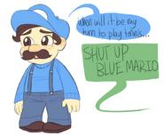 Blue Mario by JadeyArts