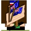 Australian Flag (crop) Mastery Sign-icon