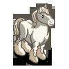 White Shire Horse-icon