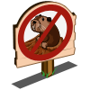 No Gopher Sign-icon