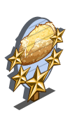 Potato and Onion Bread 5 Star Mastery Sign-icon