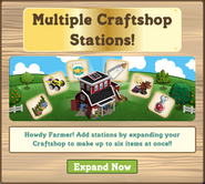 Multiple Craftshop Stations