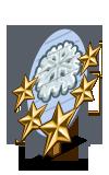 Sugar Snowflake 5 Star Mastery Sign-icon