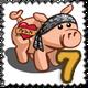 Tattoo Pig Stamp-icon