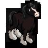 Black Shire Horse-icon