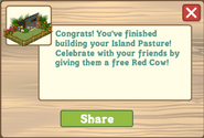 Island Pasture Finished Share Reward