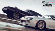 Dodge Charger and White Supra Forza H2-01
