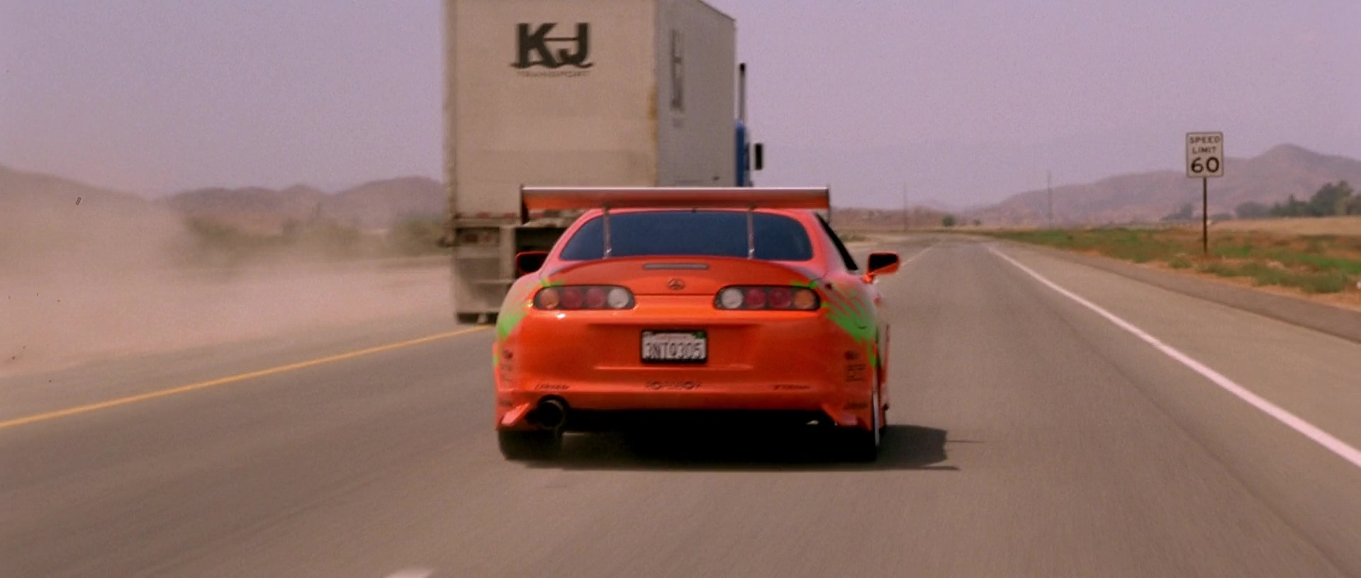 Image Toyota Supra Highway Rear View Jpg The Fast