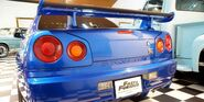 Brian O'Conner's Skyline R34 GT-R (F&F) - Rear View