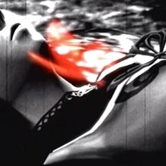 A crimson butterfly emerging after Mayu's sacrifice.