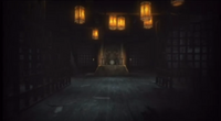 The front of Kureha Shrine in Fatal Frame II: Deep Crimson Butterfly