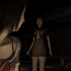 Mayu sees a ghost beside her sister.
