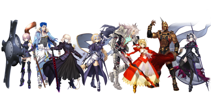 Fate Grand Party Part I servants